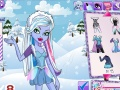 Joc Monster High iarna Dress Up Abby  Online - jocuri online